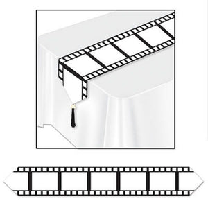 Film Strip Table Runner - 1.8m Hollywood Party Tableware Decoration Movie night