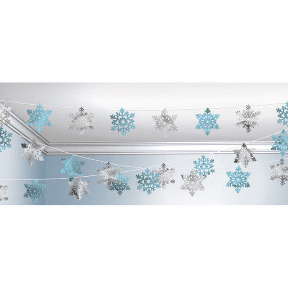 100ft Christmas Snowflake Hanging String Decoration - Xmas Winter Party