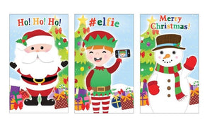 Pack of 3 Mini Christmas Notepads - Xmas Cracker and Stocking Fillers