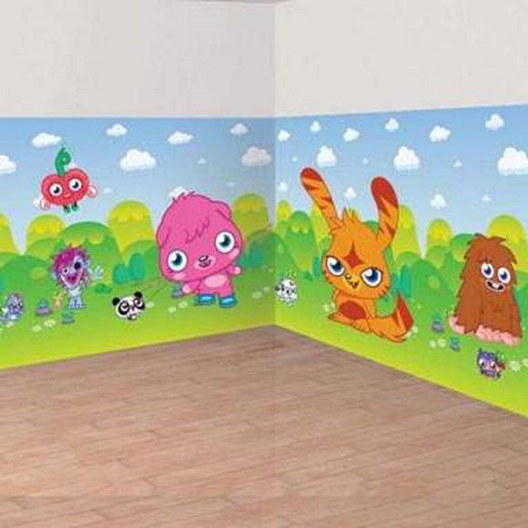 Moshi Monsters 40ft Room Roll with Add on's Decoration - Kids Party Decorations