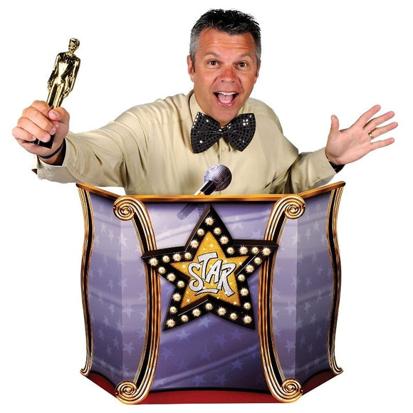 Awards Podium Photo Prop - 94 x 64 cm Hollywoods Night Party Standins Decoration
