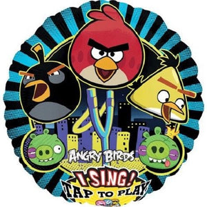Angry Birds Singing Foil Helium Balloon - Angry Bird Sing A Tune Party Balloons