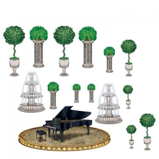 Pack of 15 Ballroom Piano & Decor Props - Hollywood Party Wall Decorations