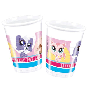 Pack of 8 Littlest Pet Shop 200ml Plastic Cups - Party Tableware