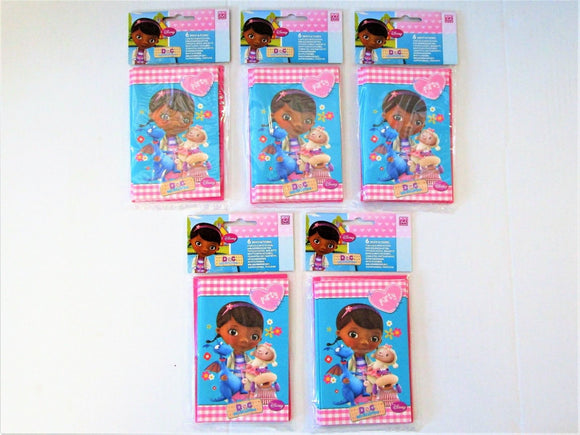 Pack of 30 Doc McStuffins Invitations and Envelopes - Disney Party Invites