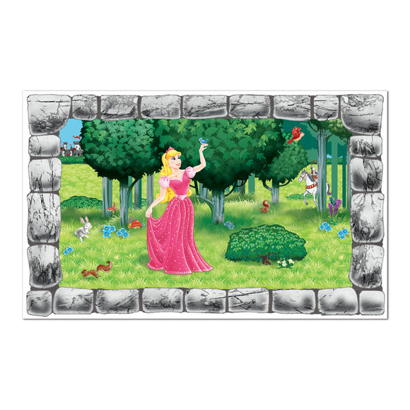Princess Castle Window Prop - 96 cm x 157 cm - Scene Setting Party Decorations
