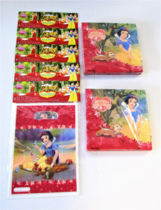Snow White Pack of 30 Party Bags and 40 Napkins - Disney Princess Tableware