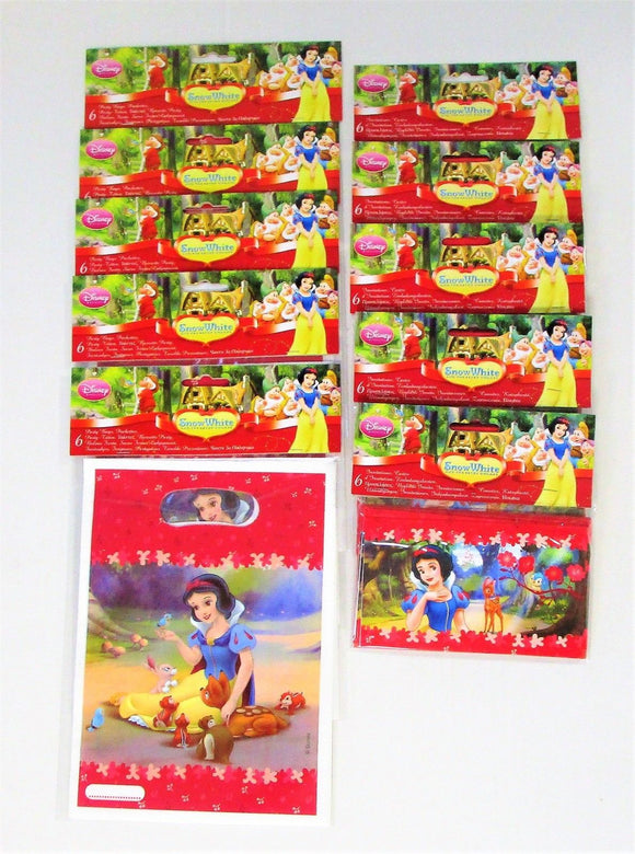 Disney Snow White Pack of 30 Party Bags and 30 Invitations with envelopes