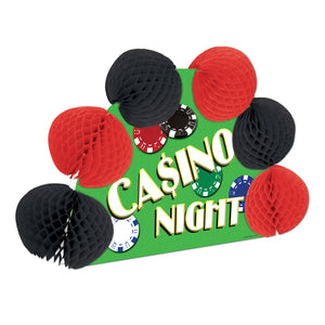 Casino Over Party Centerpiece - 3D Party Decoration - Casino Night Poker Chips