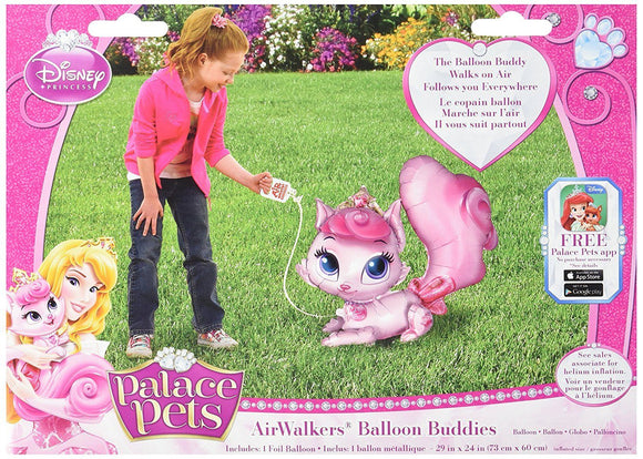 Disney Princess Palace Pets Air Walkers Helium Balloon - Kids Party Balloons