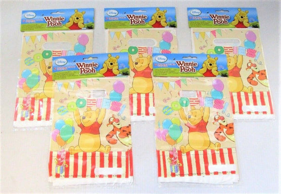 Pack of 30 Disney Winnie the pooh Loot Bags - Party Favour Gift Bag