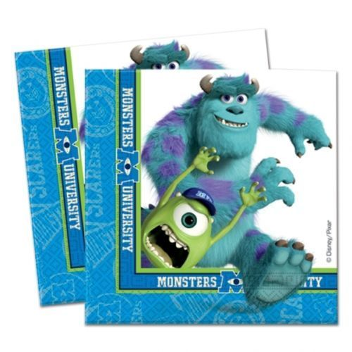Pack of 20 Disney Pixar Monsters University Luncheon Napkins - Party Tableware