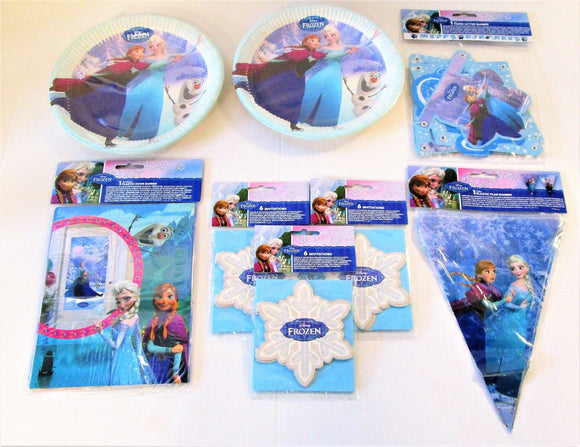 Frozen Ice Skating Party pack for 16 People - Disney Decorations and Tableware