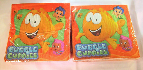 Pack of 32 Bubble Guppies Luncheon Paper Napkins - Party Tableware