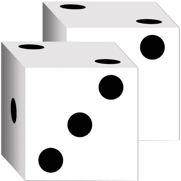 Pack of 2 Cardboard Dice Boxes - 16.5 cm - Fun Party Decorations - Gift Boxes