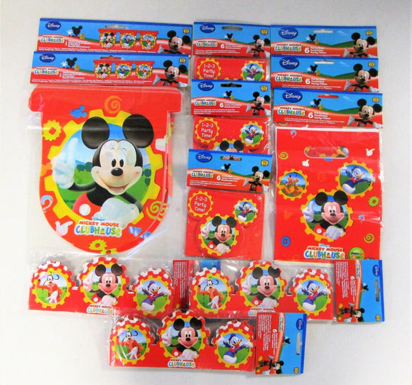 Disney Mickey Mouse Clubhouse Party Pack for 18 People - Invites, Party Bags etc