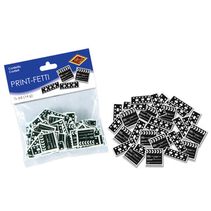 Hollywood Move Clapperboard & Filmstrip Confetti - 14g Pack - Party Tableware