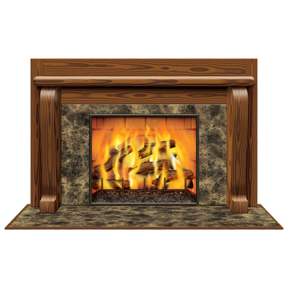 Fireplace Scene Decoration - 157cm - Christmas & Winter Scene Setter Decorations