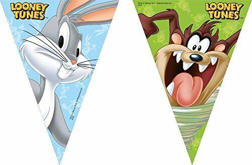 Looney Tunes Triangle Flag Banner - Hanging Party Decorations