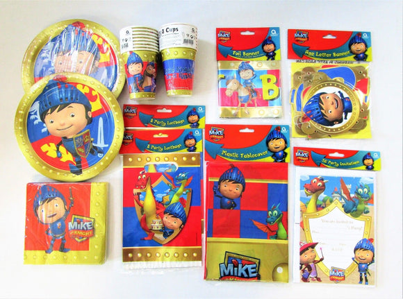 Mike the Knight Party Pack For 16 People - Medieval Tableware and Decoration Set