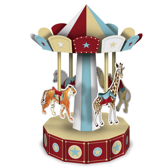 Vintage Circus 3D Carousel Table Centerpiece - Party Tableware Decorations