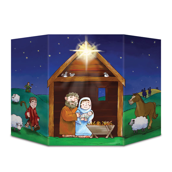 Nativity stand up photo prop 94 cm x 64 cm Christmas Decorations - Party Props