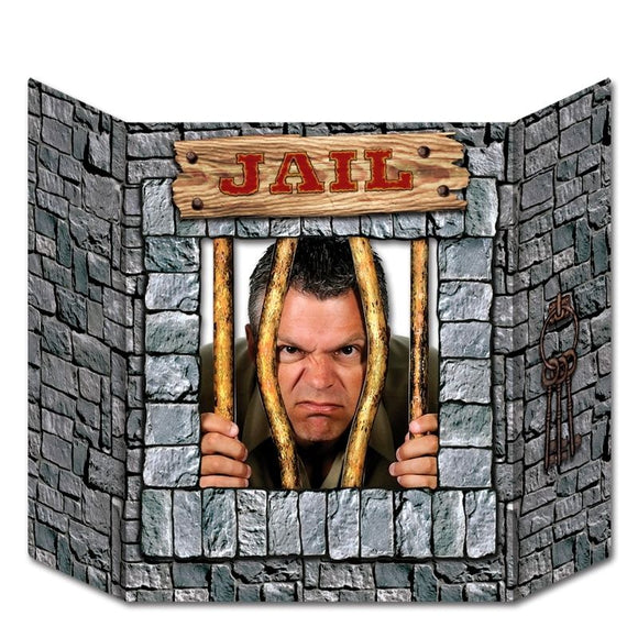 Jail Photo Prop - 94 x 64 cm - Wild West / Cowboy Party Decoration & Cutouts