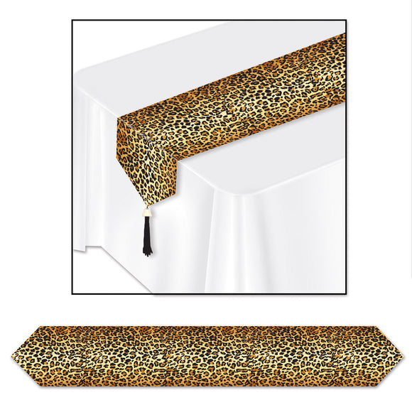 Leopard Print Table Runner - 6ft long - Printed Animal Party Decorations