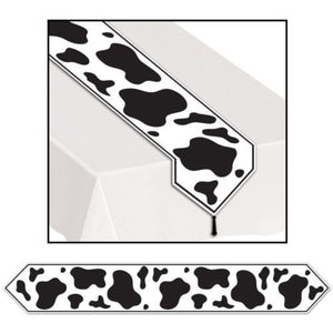 Western Cow Print Table Runner - 6ft long - Wild West / Cowboy Party Decorations
