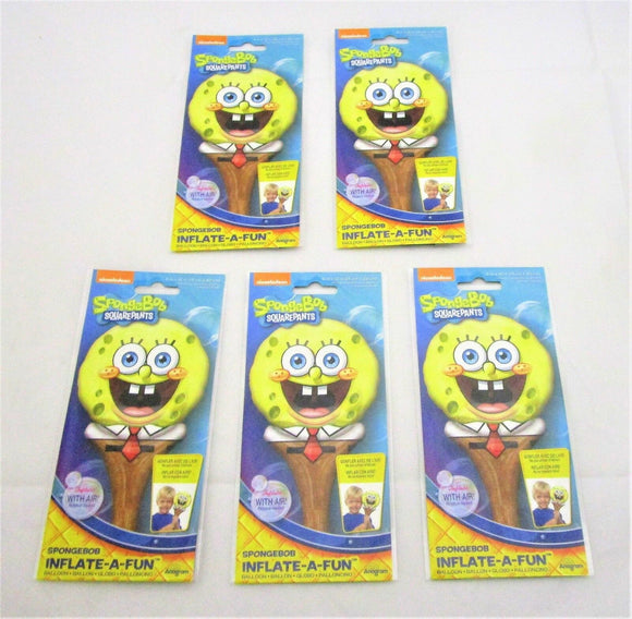 Pack of 5 SpongeBob SquarePants Inflate a fun Nickelodeon Party Balloons