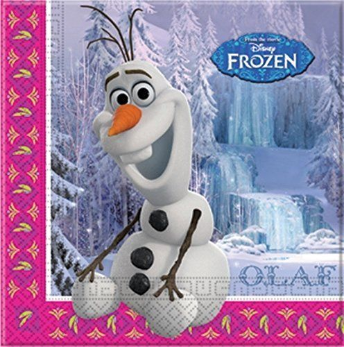 Pack of 20 Frozen Olaf Paper Luncheon Napkins - Disney Party Tableware