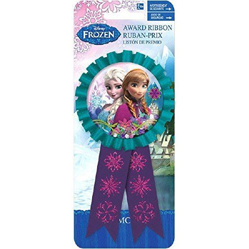 Disney Frozen Confetti Award Ribbon - Party Accessory - Rosette - Elsa and Anna