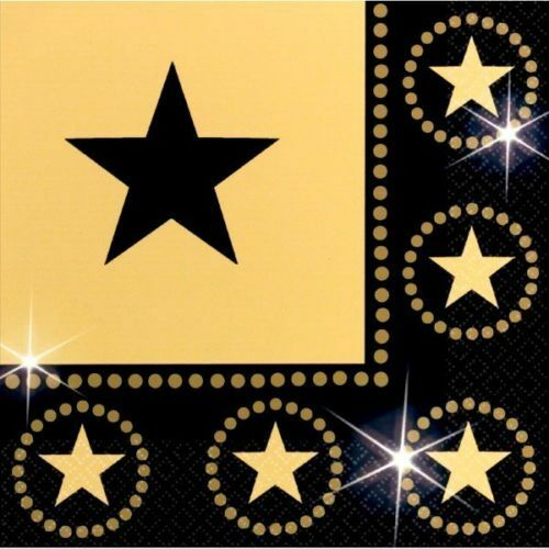 Pack of 16 Hollywood Movie Star Napkins -33cm - Party Tableware