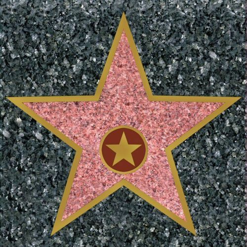 Hollywood Star Stickers - 29 x 28.5 - Peel and Place Party Floor Decoration