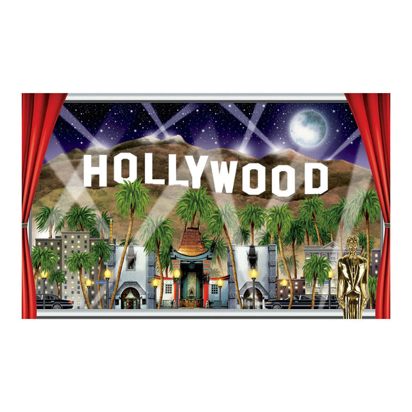 5ft Hollywood Window Prop Scene Setter - Awards Night Party Wall Decorations