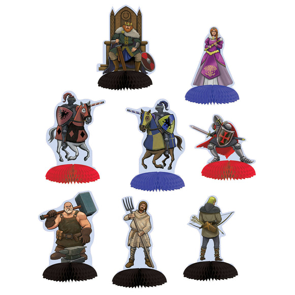 Pack of 8 Medieval Mini Centerpiece - Party Table Decorations