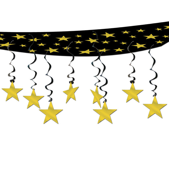 Stars Are Out Ceiling Decorations - Hollywood Star Party Decoration - Movie Star