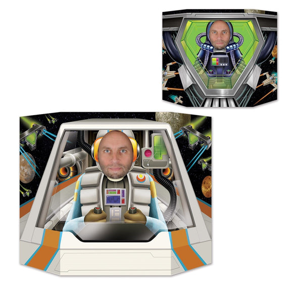Space Pilot Double Sided Photo Prop - 94 x 64 cm - Astronaut Party Decorations