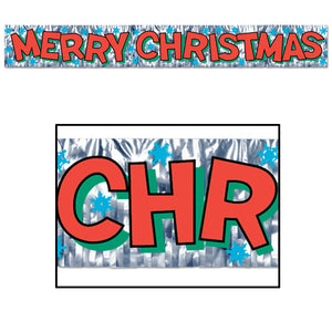 150 cm Merry Christmas Foil Fringe Banner - 5ft - Christmas Party Decorations