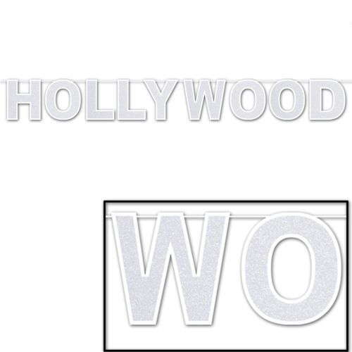Hollywood Glittered Banner - 240 x 22 cm - Shimmering Party Hanging Decorations