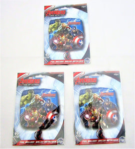 "Pack of 3 Avengers Age of Ultron 17"" Foil Helium Balloon - Marvel party balloons"