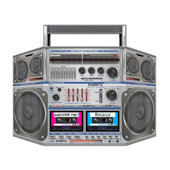 Totally 80's Boom Box Stand-Up Cutout Decoration - Retro Party Decorations