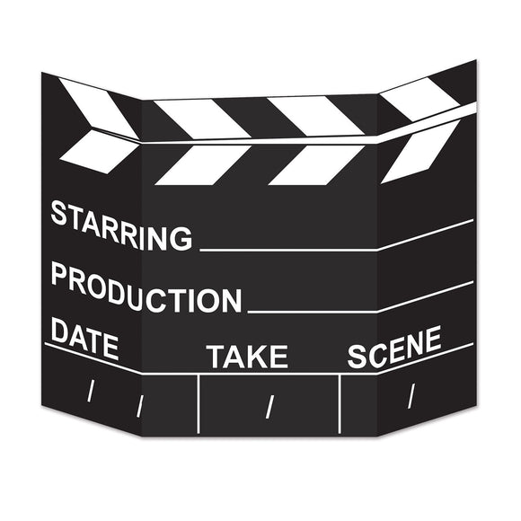 Hollywood Movie Set Clapperboard Stand-Up - VIP Movie Party Cutout Decorations