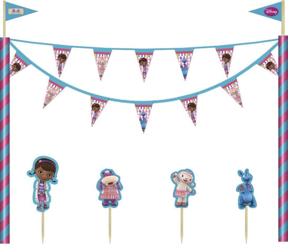 5 Piece Doc McStuffins Cake Decoration Kit - Disney Decorations