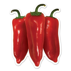 Pack of 10 Mini Chili Pepper Cutouts - Mexican Fiesta Party Decorations