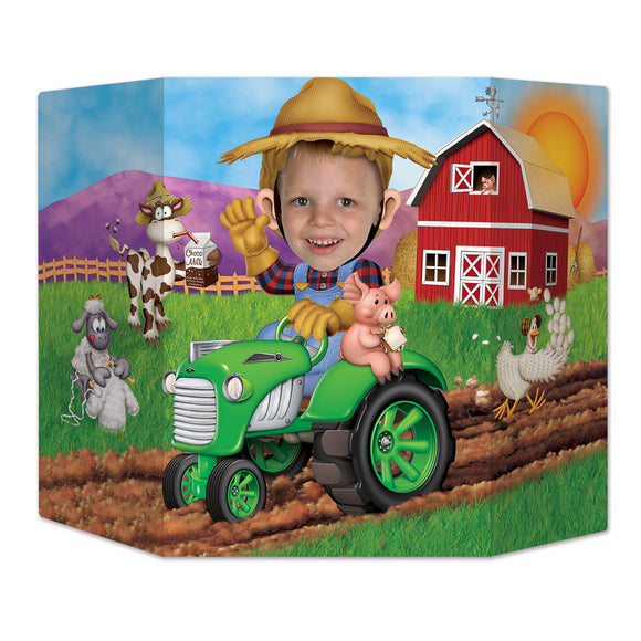 Farmyard Tractor Photo Prop - 94  x 64cm - Farmer & Animal Party Decoration Farm