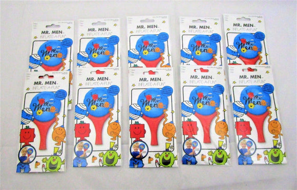 Pack of 10 Mr Men Inflate A Fun Balloons - Party Bag Fillers