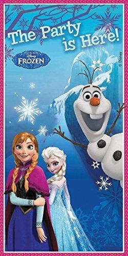 Disney Frozen The Party is Here Plastic Door Cover - Party Decorations