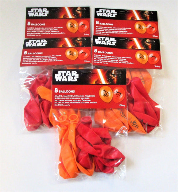 Pack of 40 Star Wars The Force Awakens Latex Balloons - Disney Party Balloon