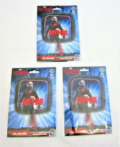 "Pack of 3 Ant Man 17"" Foil Helium Balloons - Avengers Initiative - Marvel party"